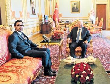 Yıldırım, TRT Genel Müdürü'nü kabul etti