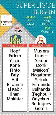 Sezonun perdesi Ankaragücü-Galatasaray maçıyla açılıyor