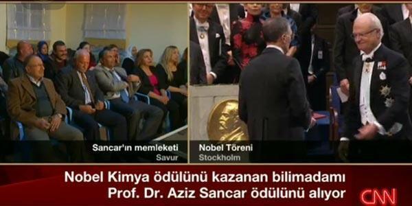 Gurur günü... Prof. Dr. Aziz Sancar ödülünü aldı