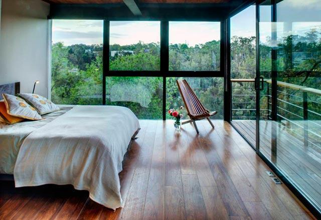 Bakmaya doyamayacağınız teraslı yatak odaları