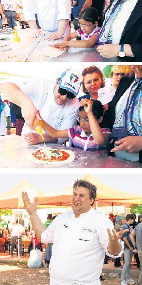 400 çocuk ilk kez pizza yedi
