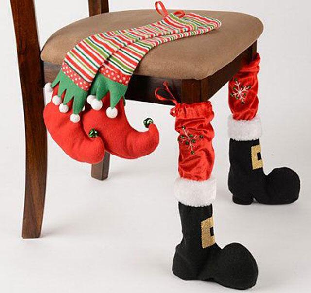 """Yılbaşı Dekorasyonu:  """"Sandalyele Süsleme"""""""