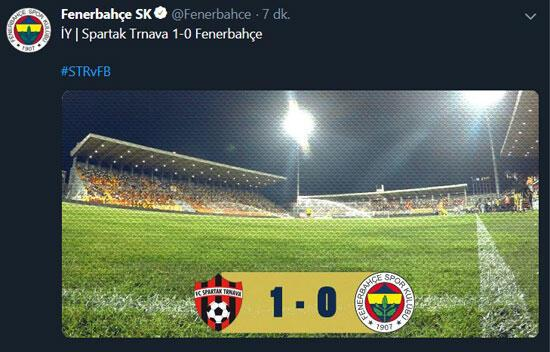 Fenerbahçe yanlış stadı paylaştı