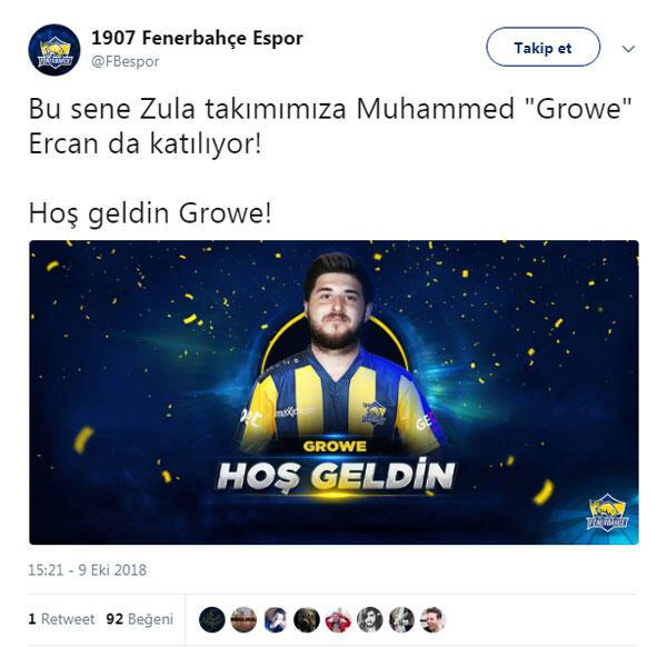 1907 Fenerbahçe, G.Saray Espordan transferi yaptı