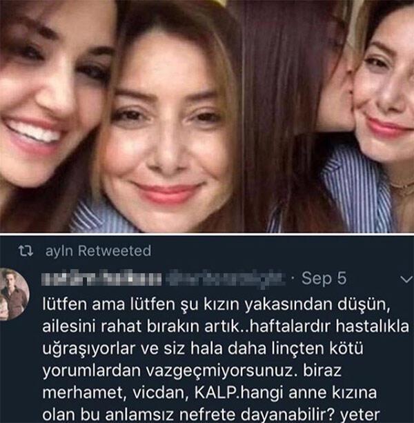 Aylin Erçelin son paylaşımı: Kızımın yakasından düşün