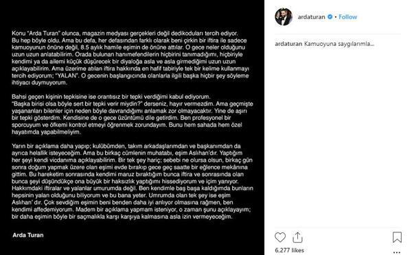Arda Turandan açıklama