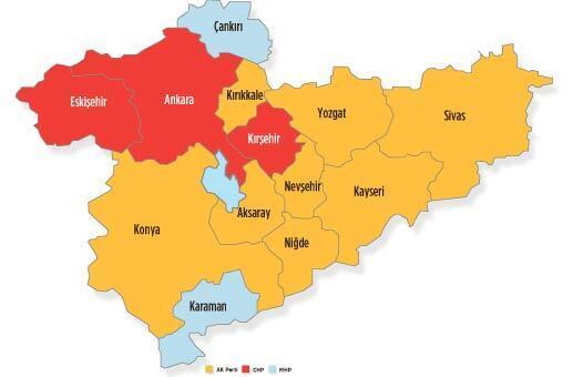 İç Anadolu'da tablo değişti