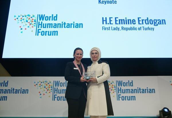 Emine Erdoğana Fark Yaratan ödülü verildi