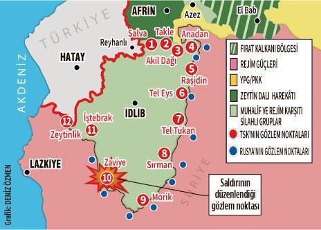 Idlib'de TSK'nın gözlem noktasına saldırı