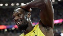 Bolt'u tarihe gömdü! Futbolcu...