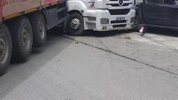 Korkunç! Şoförün üstünden geçen TIR 5 araca çarptı