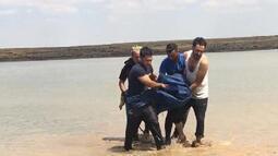 Atıyla girdiği gölette boğuldu!
