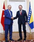 Cumhurbaşkanı Erdoğan'a Saraybosna'da sıcak karşılama
