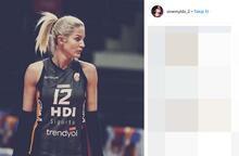 Galatasaray'ın güzel voleybolcusu Sinem Yıldız