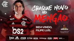 Filipe Luis resmen Flamengo'da