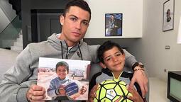 Ronaldo antrenmanı oğluyla yaptı!