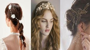 Yaz düğünü için gelin saçı aksesuarları