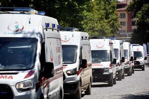 Türkiye'nin en büyüğü kabul ediliyor! 150 ambulansla başladı...