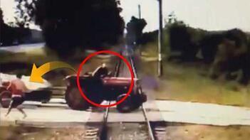 Saniye saniye dehşet! Tren böyle çarptı