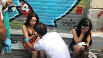 Taksim'de dehşet anları! Bu halde bırakıp kaçtı