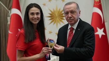 Cumhurbaşkanı Erdoğan, İrem Yaman'ı kabul etti!