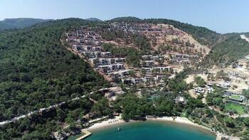 Bakan Kurum'un durdurulduğunu açıkladığı otel inşaatları havadan görüntülendi