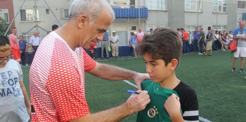 Eski milli futbolcular, Çorum'da gençlerle buluştu