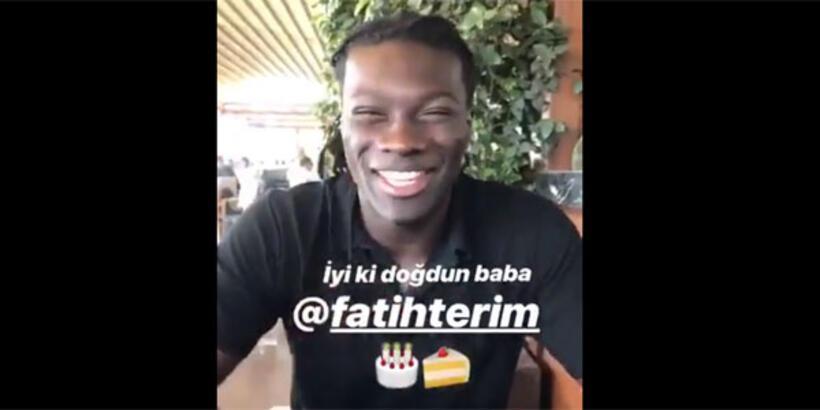 Gomis, Fatih Terim'in doğum gününü unutmadı