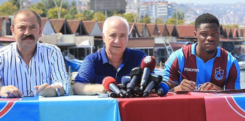 Trabzonspor'da Caleb Ekuban imzayı attı