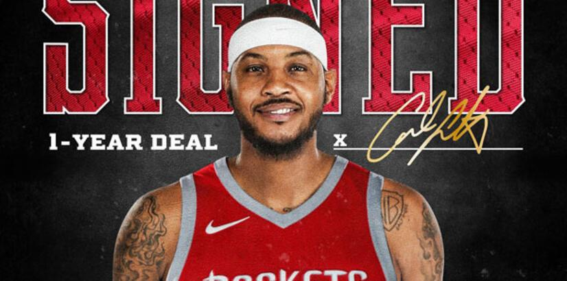 Carmelo Anthony, Houston Rockets'ta!