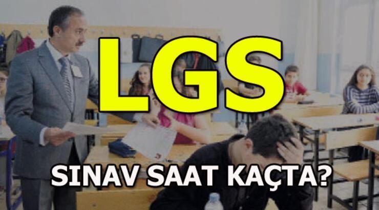 LGS saat kaçta? LGS için geri sayım...(2018)