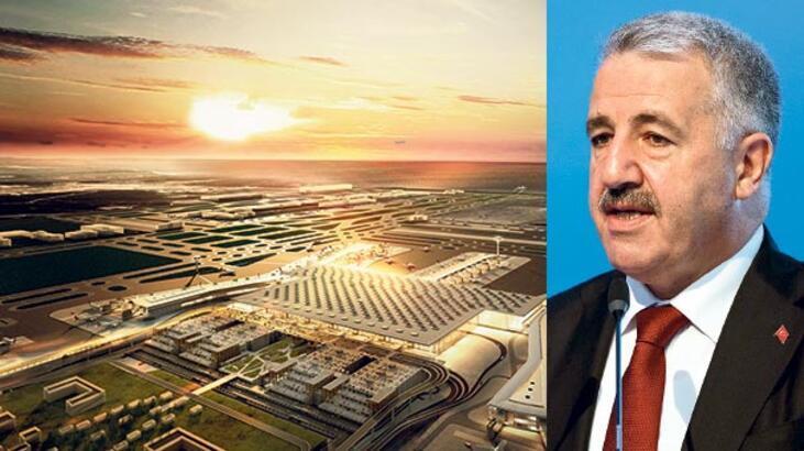 Yeni havalimanı son sürat geliyor