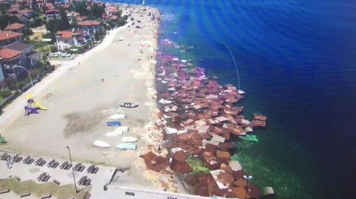 Denizdeki suntalar drone ile görüntülendi