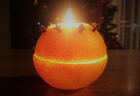 Portakal kabuğundan mumluk yapımı