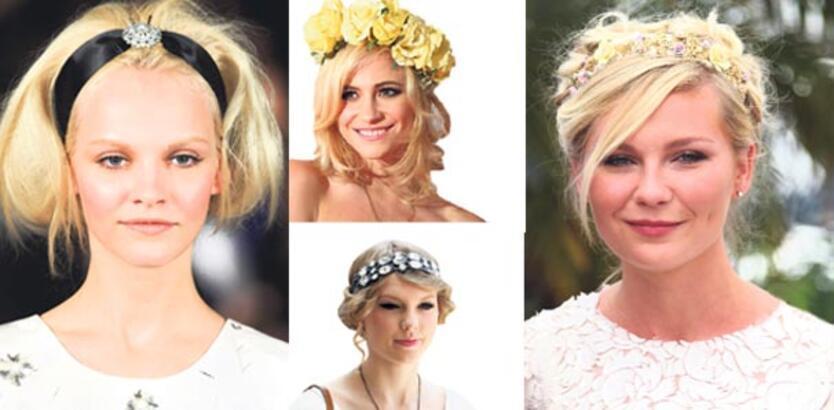 Şimdi moda, saçlarına taç yaptığın çiçekler