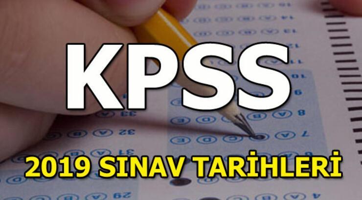 KPSS sınav tarihleri belli oldu! 2019 KPSS sınavları ne zaman?