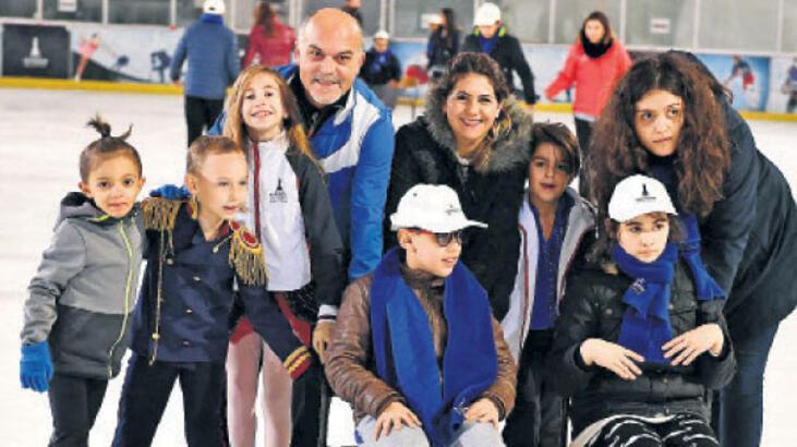 Engelli gençlere buzda 'engel' yok