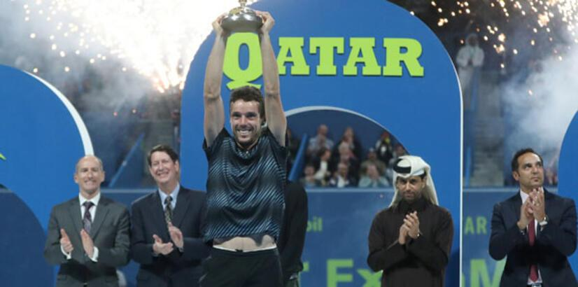 Katar Açık'ta şampiyon Agut!