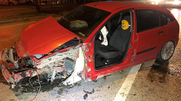 Kazadan kurtulanlara arkadan gelen otomobil çarptı