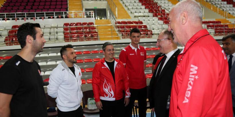 A Milli Erkek Voleybol Takımı'nda Letonya hazırlıkları