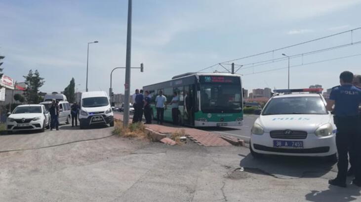 Yer: Kayseri... Yolcu otobüsünü durdurup dehşet saçtı