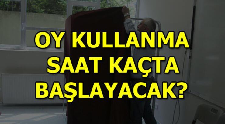 İstanbul seçimi için oy kullanma saat kaçta başlayacak?