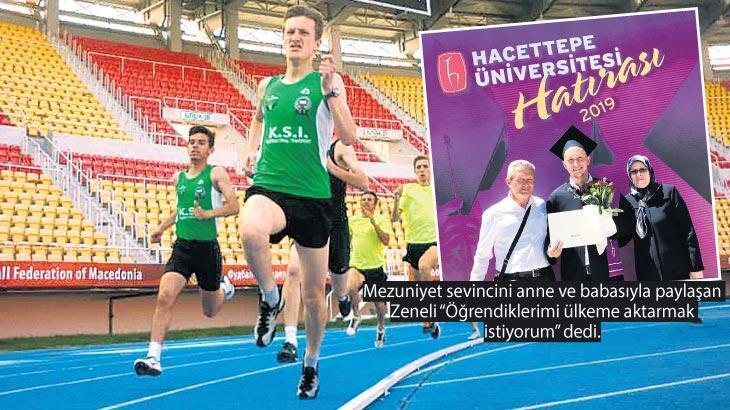 Atletizm için geldi Hacettepe'yi bitirdi