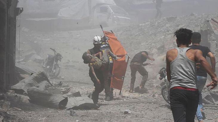 Rejim İdlib kent merkezini de bombardımana tuttu
