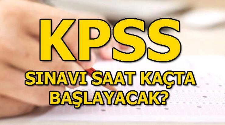 KPSS sınavının ilk oturumu başladı! Eğitim Bilimleri sınavı saat kaçta?