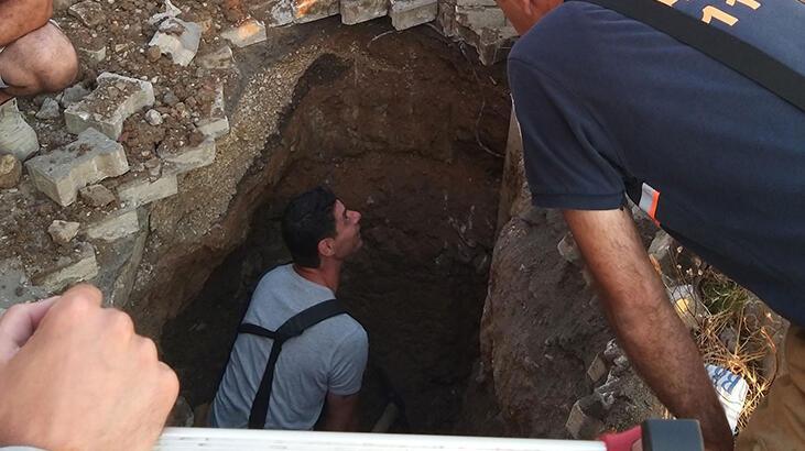 5 metre derinlikten kurtarıldı!