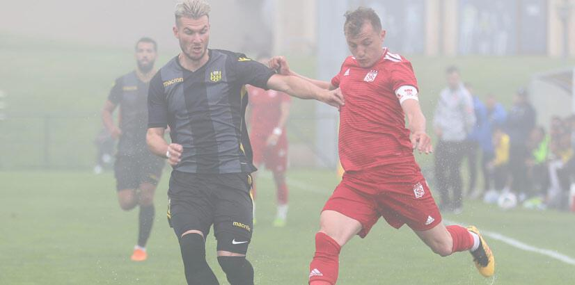 Hazırlık maçı sis nedeniyle tamamlanamadı