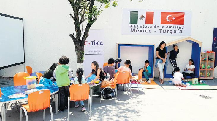 TİKA'dan Meksika'da kütüphane açılışı