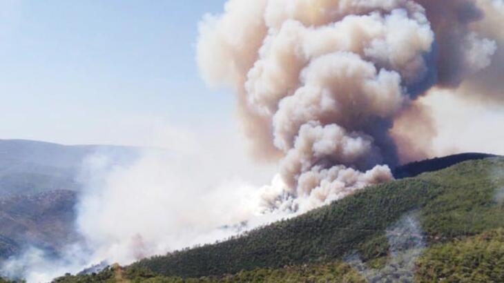 Korkulan oluyor! Urla'daki yangın köye sıçradı