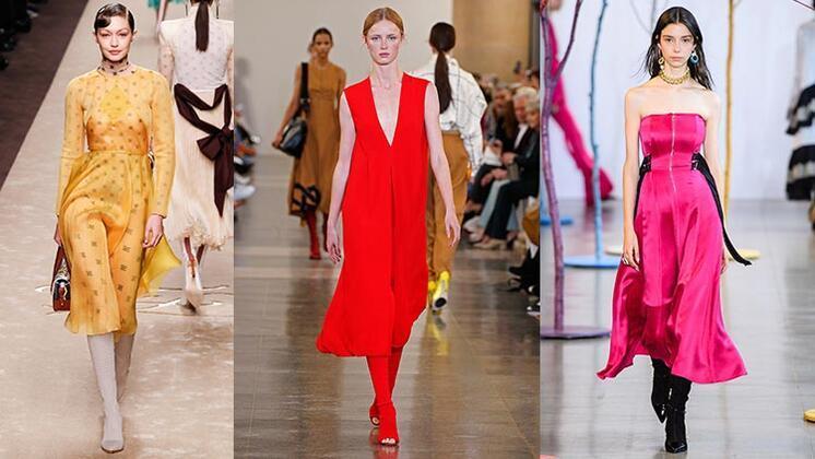Midi elbise-çorap bot şıklığı